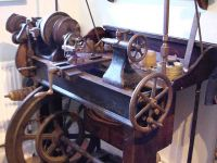 Old Engine Turning Lathe Made In Sheffield By Alfred Chadburn 1855